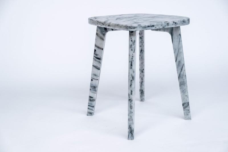 grey pattern stool