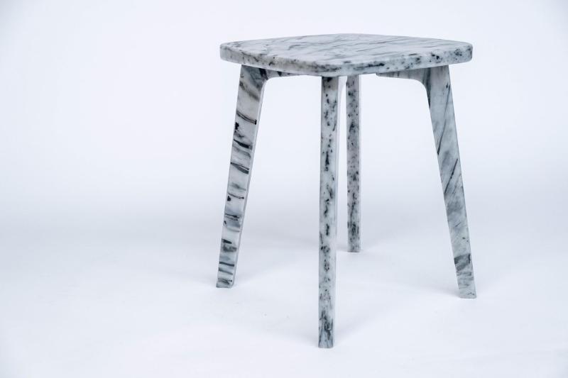grey pattern stool