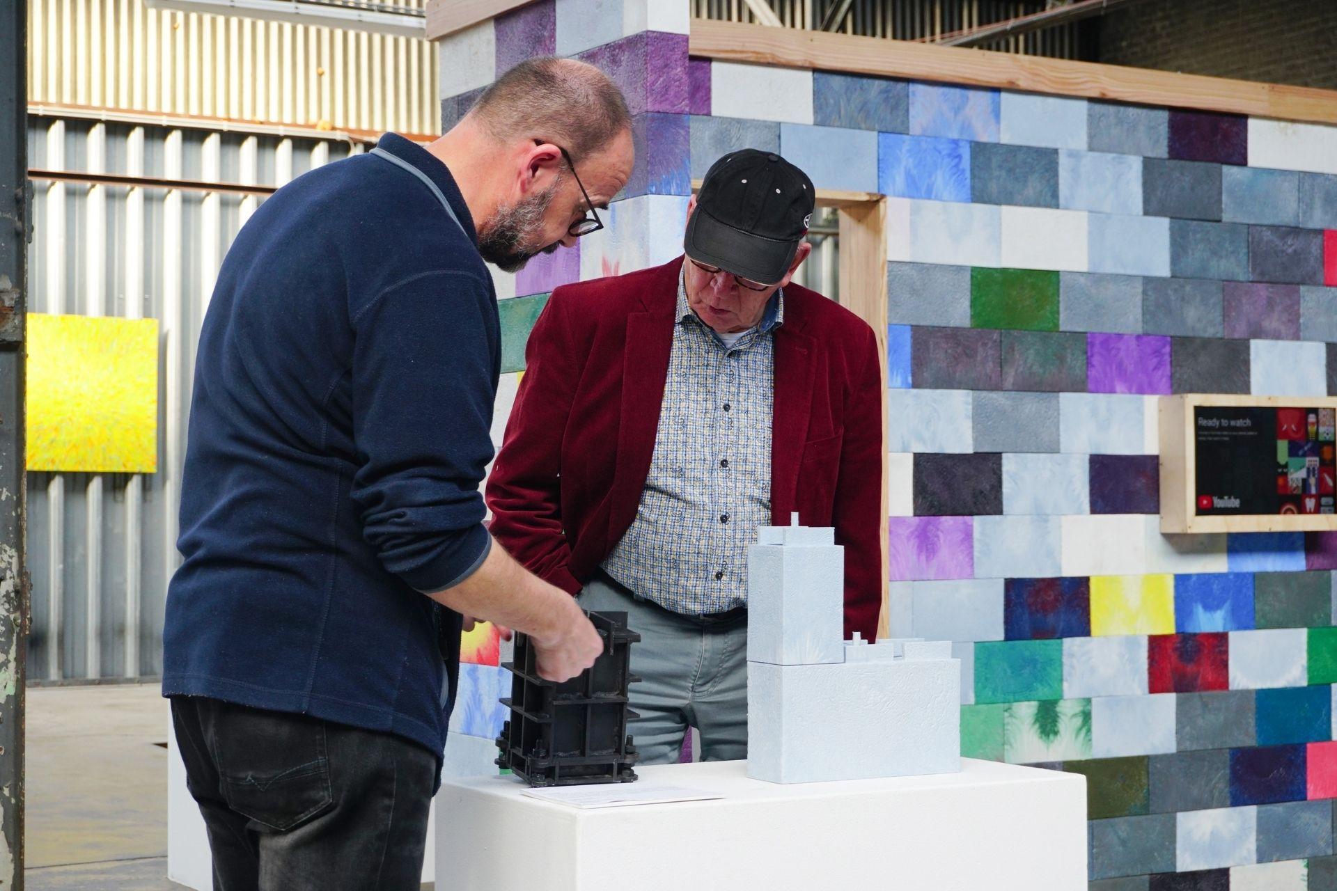 Dutch Design Week brick wall setup & Brick mould.