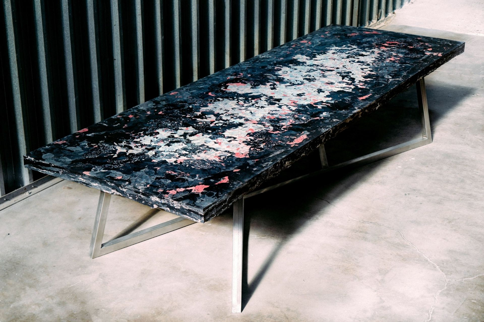 Plastic recycled conference table for Jaden Smith