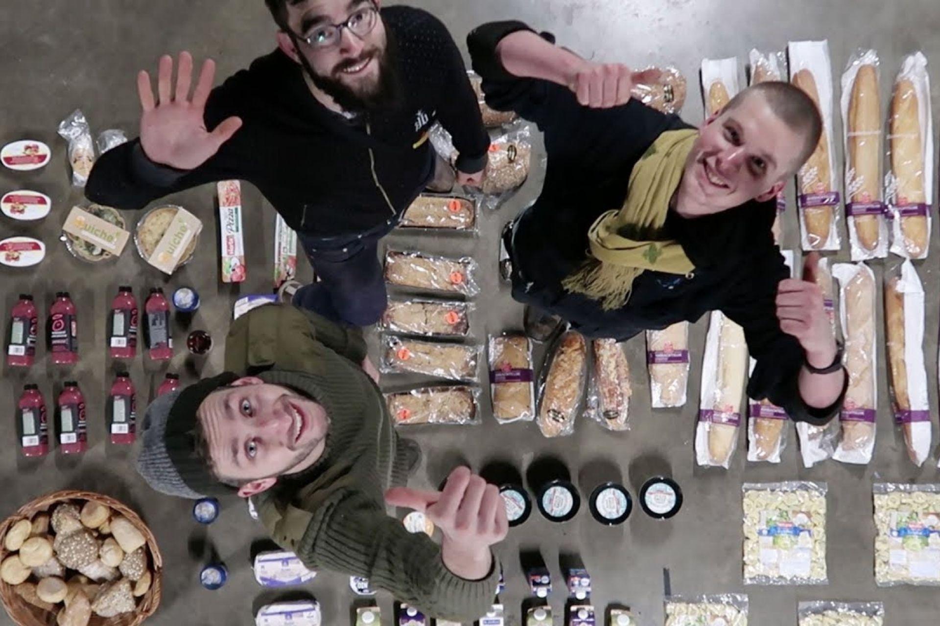 Dumpsterdiving food rescued in Eindhoven