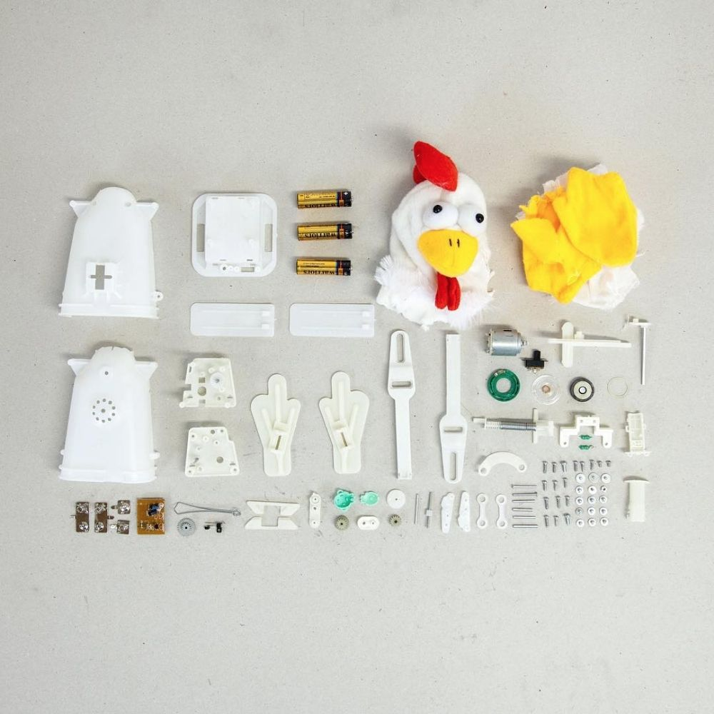 parts of a chicken toy