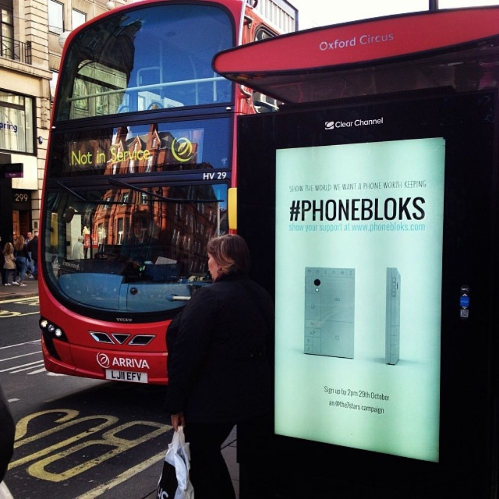 Phonebloks ad in London street