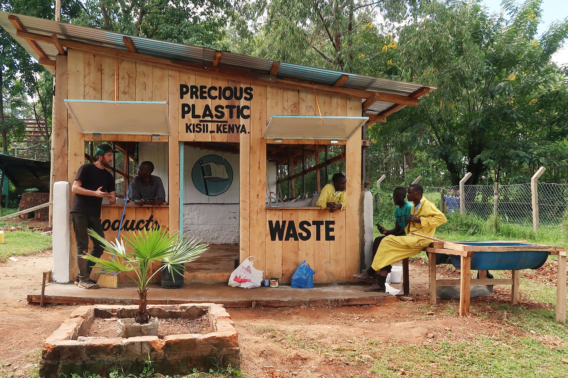precious plastic workspace in kenya