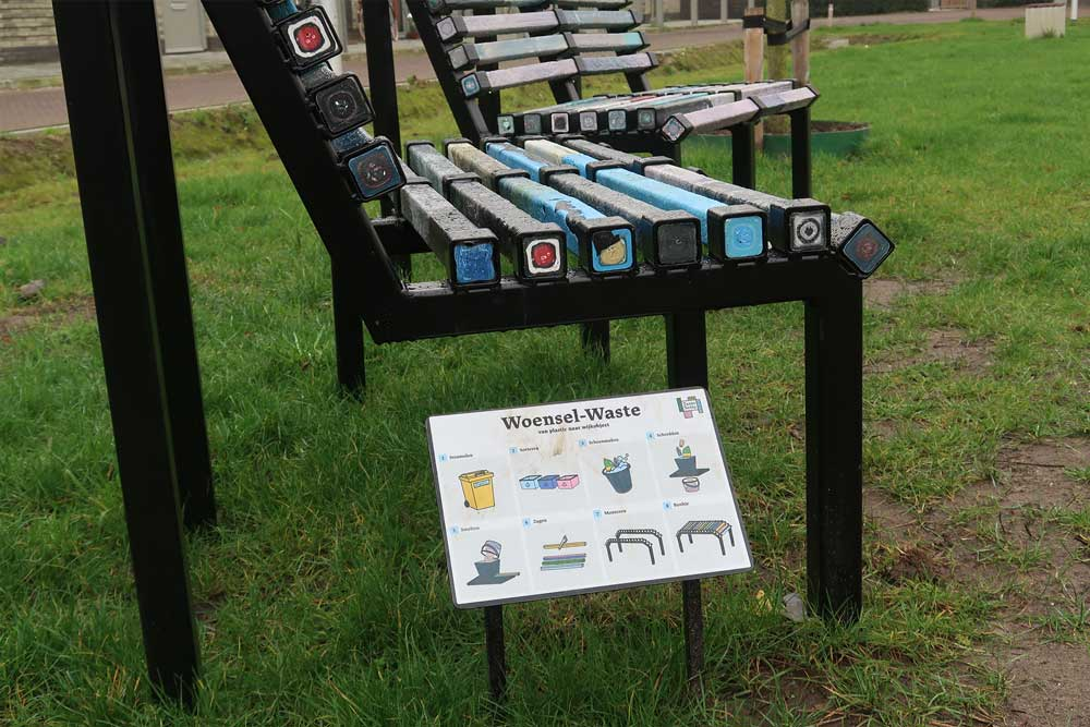 benches close up with explanation