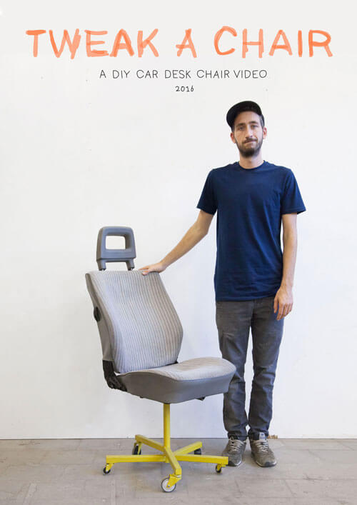 Man standing next to a chair