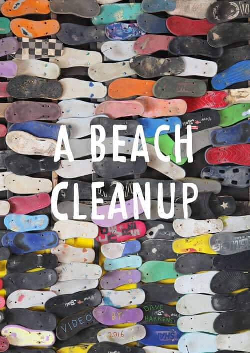Poster with hundreds of flip flops
