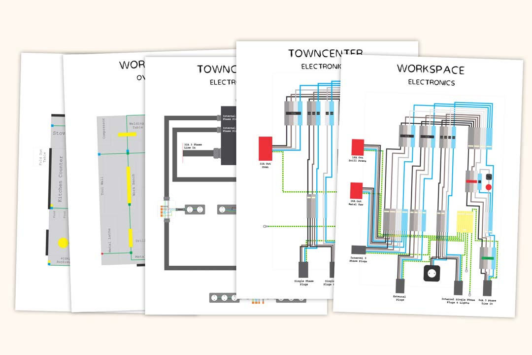 Illustrations of electrical plans