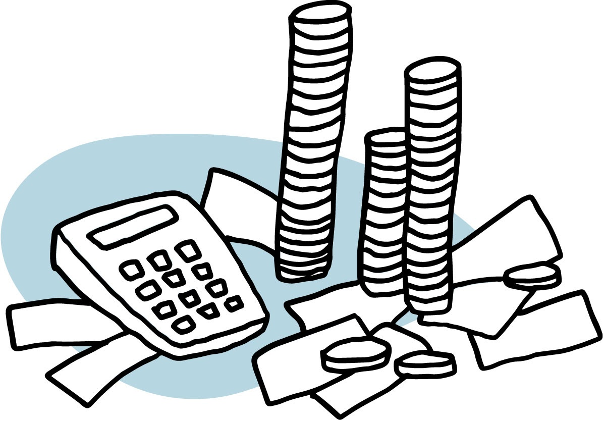 Illustration of money and business
