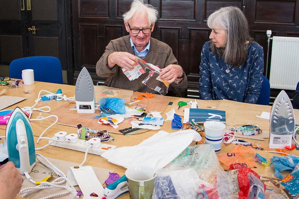Precious Plastic workshop with elderly
