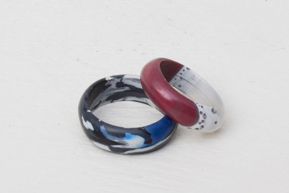 Recycled plastic rings