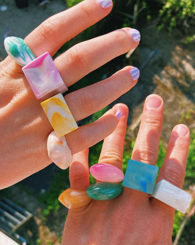 rings from recycled plastic