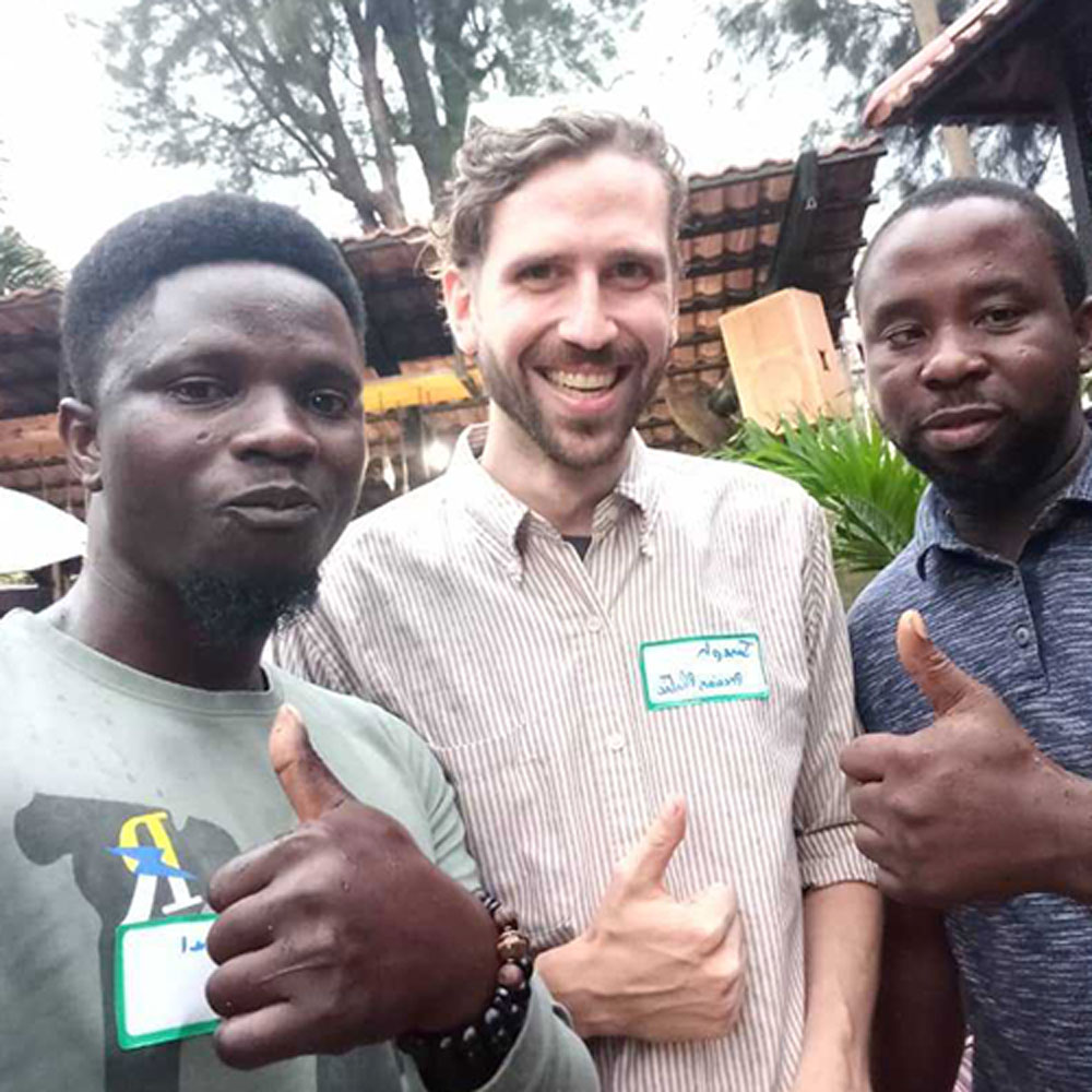 three man posing