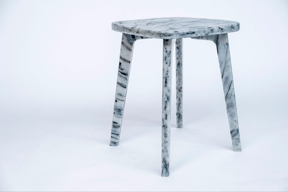 Precious Plastic Stool from recycled plastic