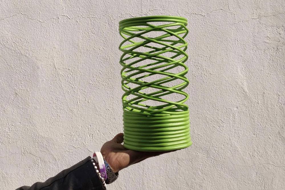 plastic recycled lamp
