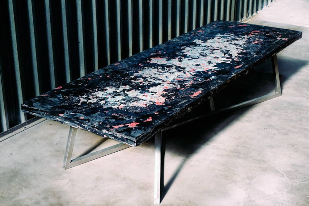 conference table from recycled plastic