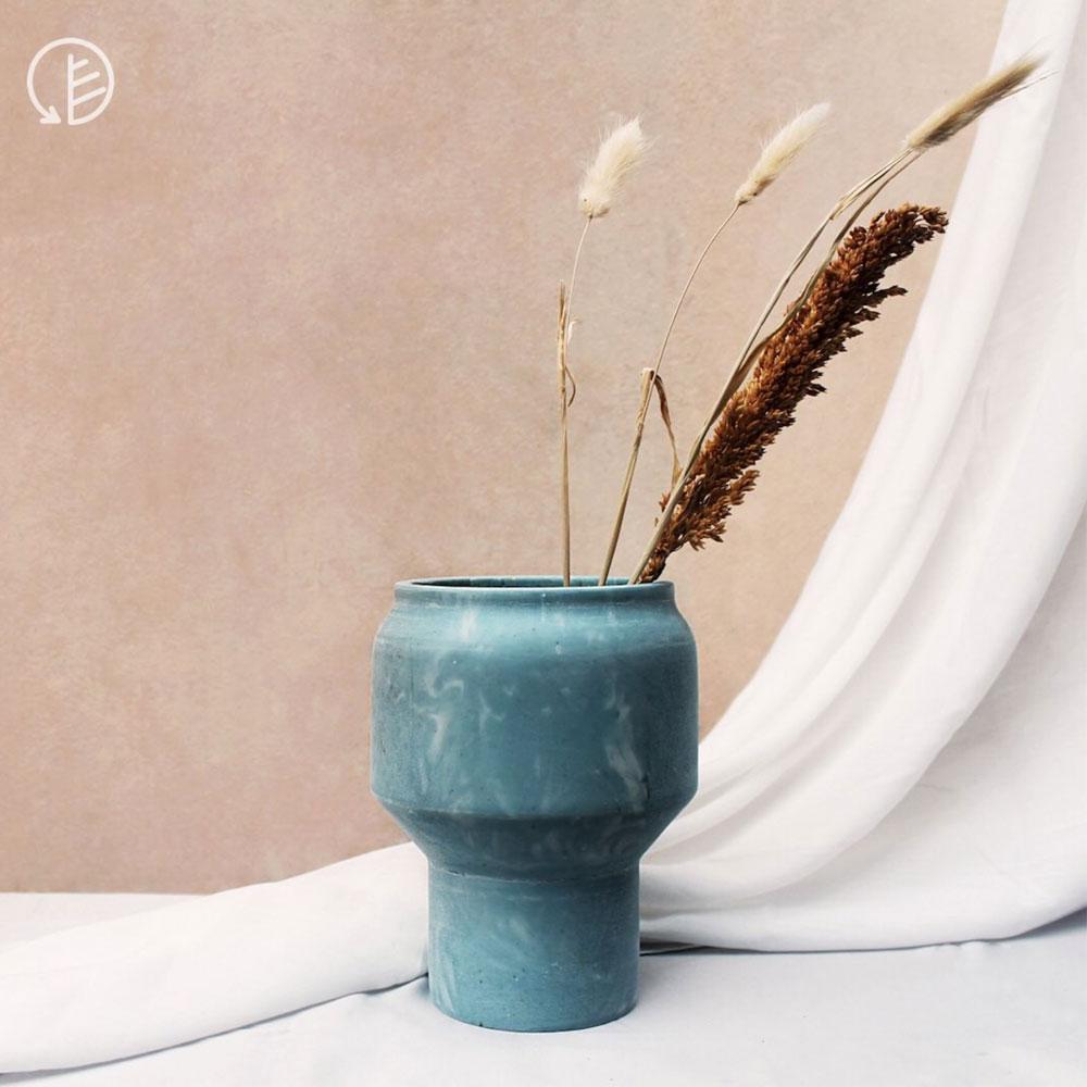 Recycled plastic vase