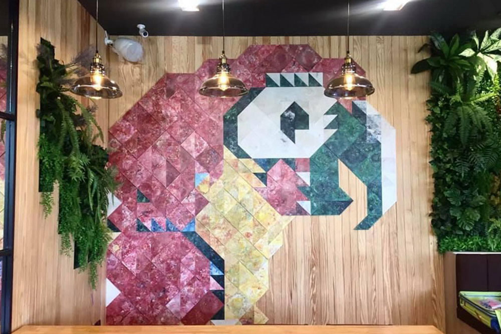 murals from recycled tiles