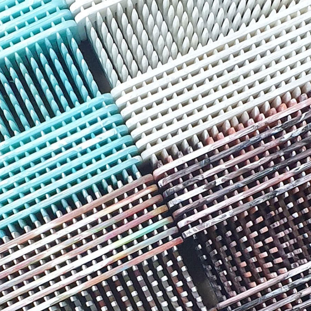 production of recycled combs