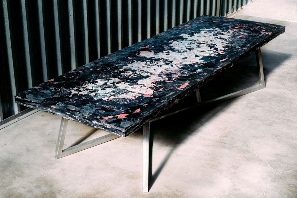 big recycled conference table