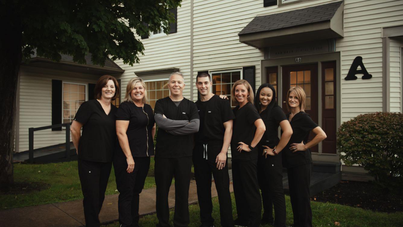 Photo of the Van Hala Dental Group team outside