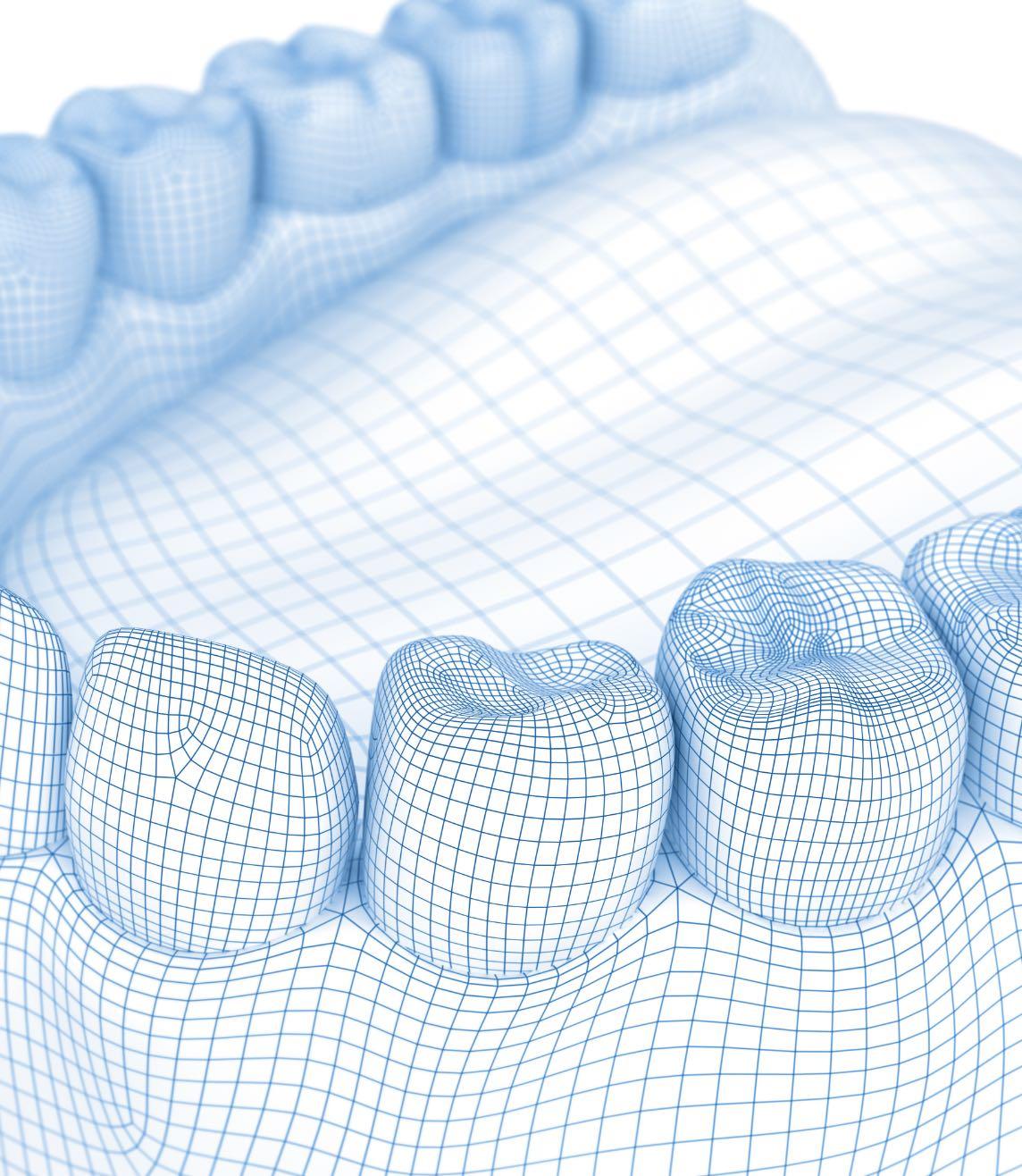 3D teeth graphic