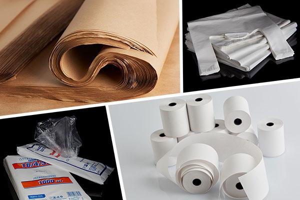 papiery, folie, reklamówki i rolki do druku dla sklepu