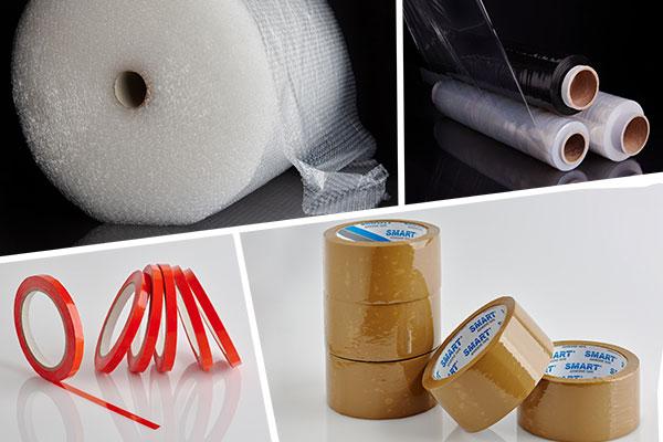 folie, taśmy i inne produkty do pakowania
