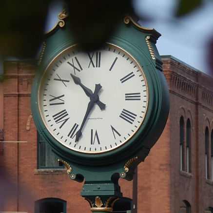clock in downtown watertown