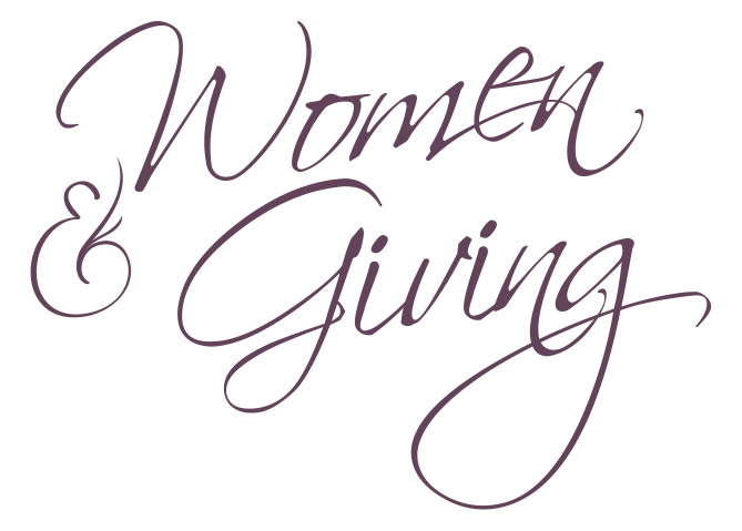 women and giving logo