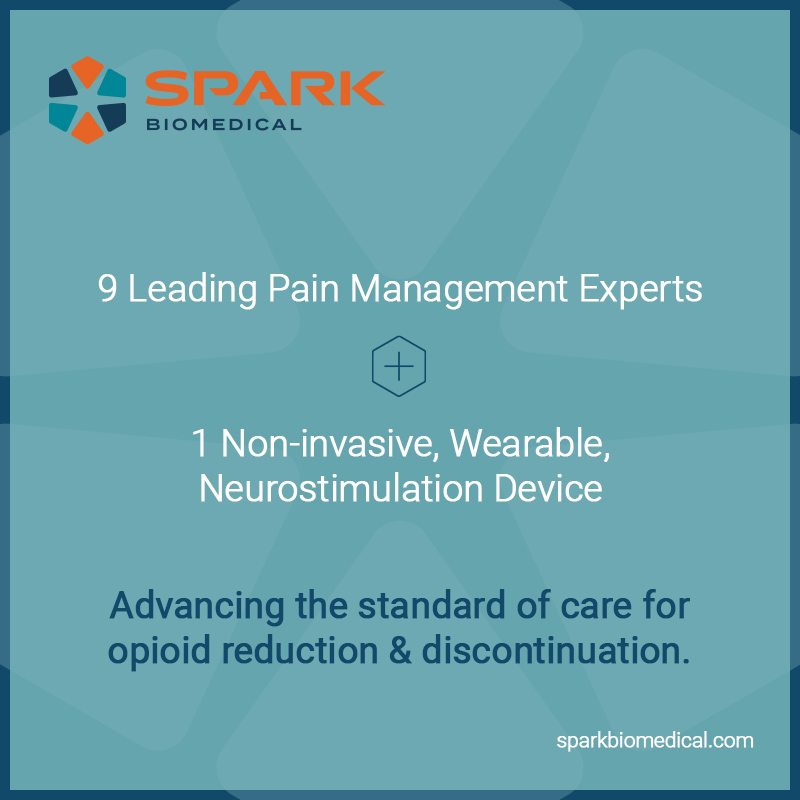 Nine of the Foremost Pain Management Physicians Join the Spark Biomedical, Inc. Medical Advisory Board