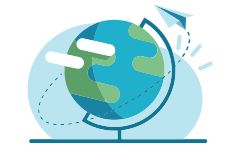 Globe vector blue