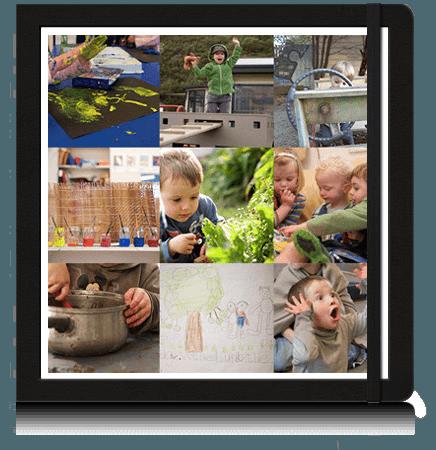 Photo collage on an ipad