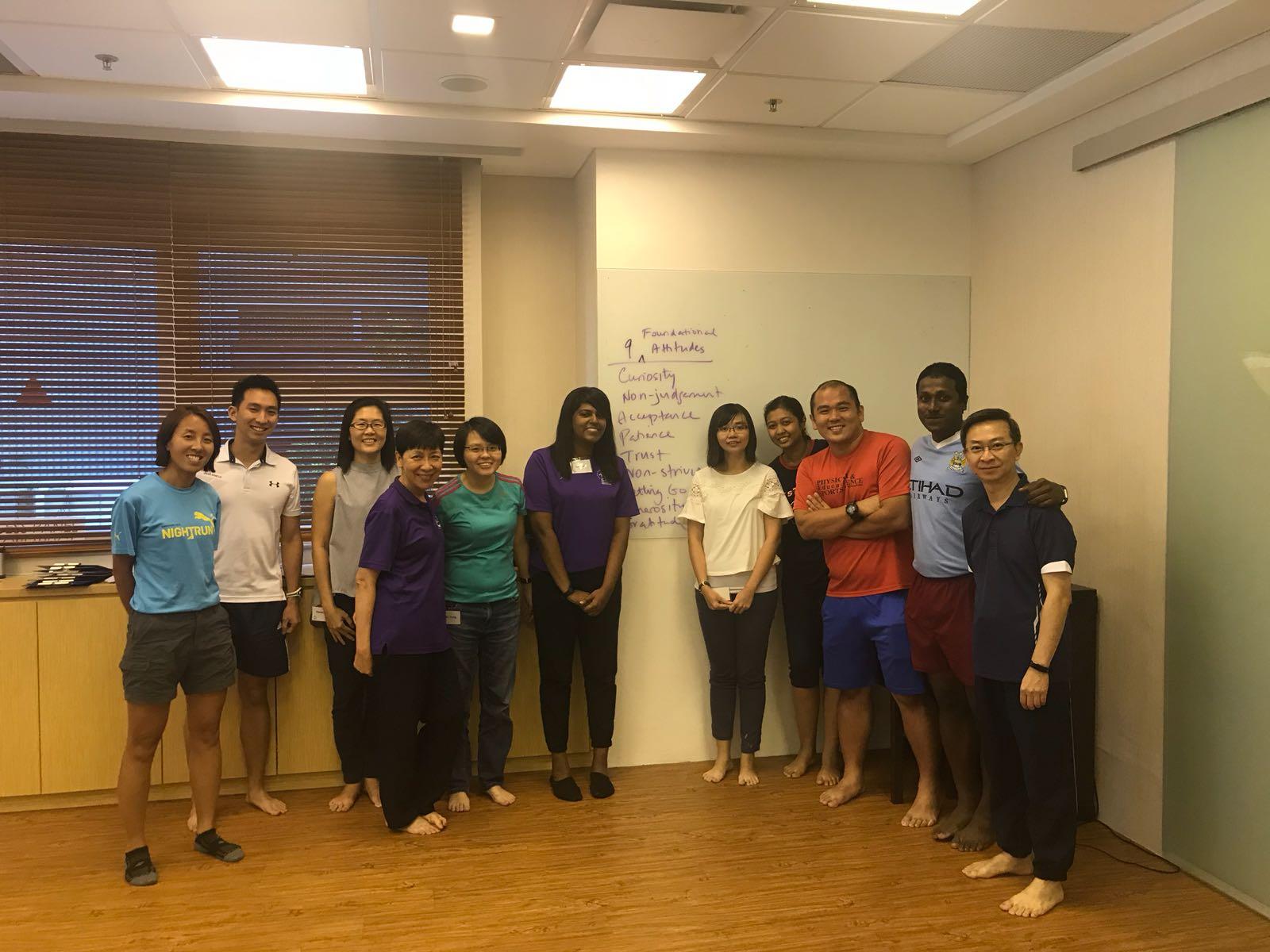 teachers training positive education singapore group photo