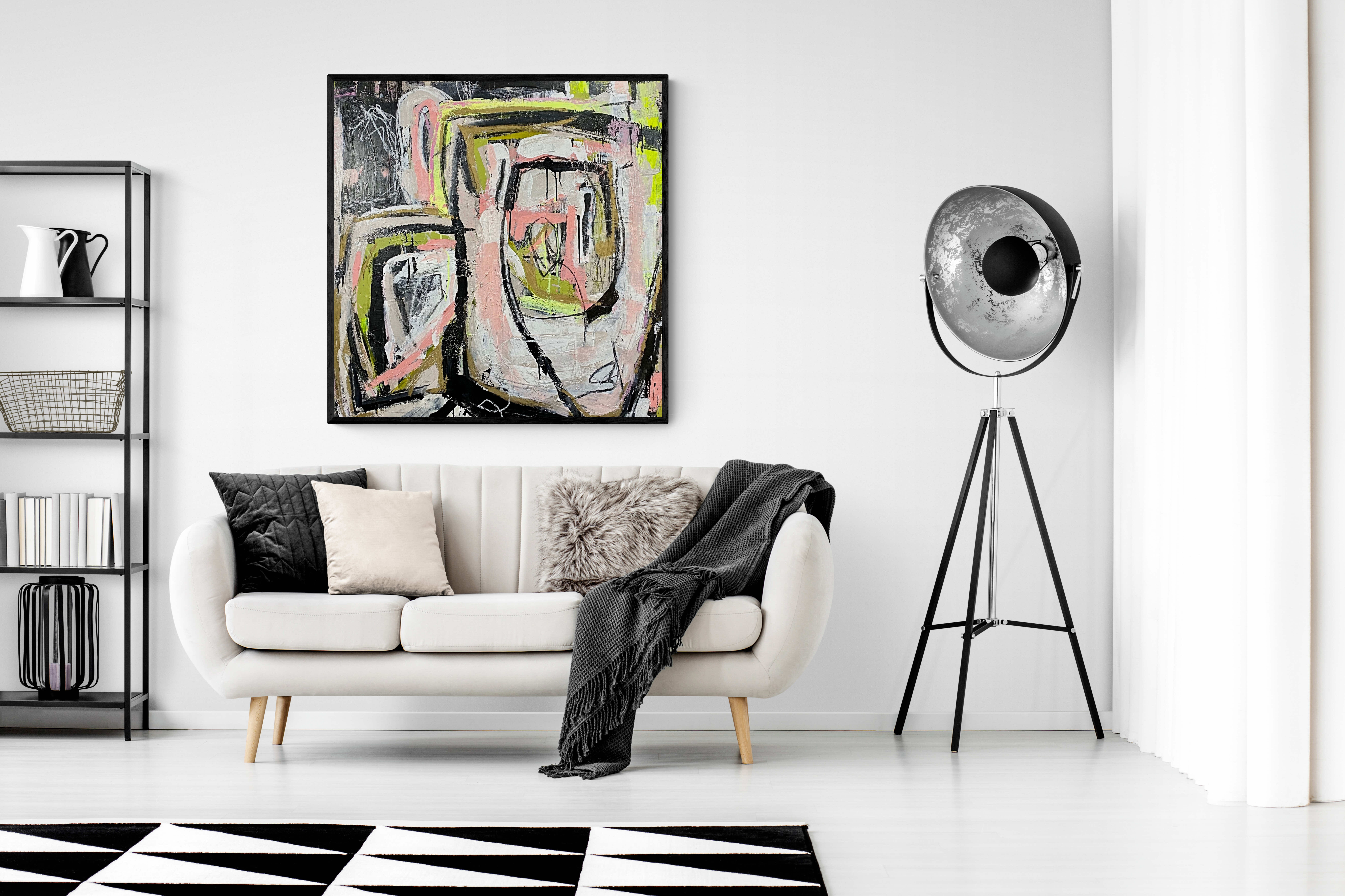 Photo of artwork in a home