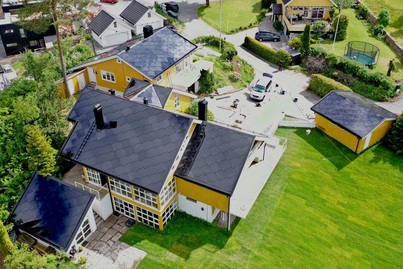 Norges største installasjon av solcelletakstein fra Sunstyle