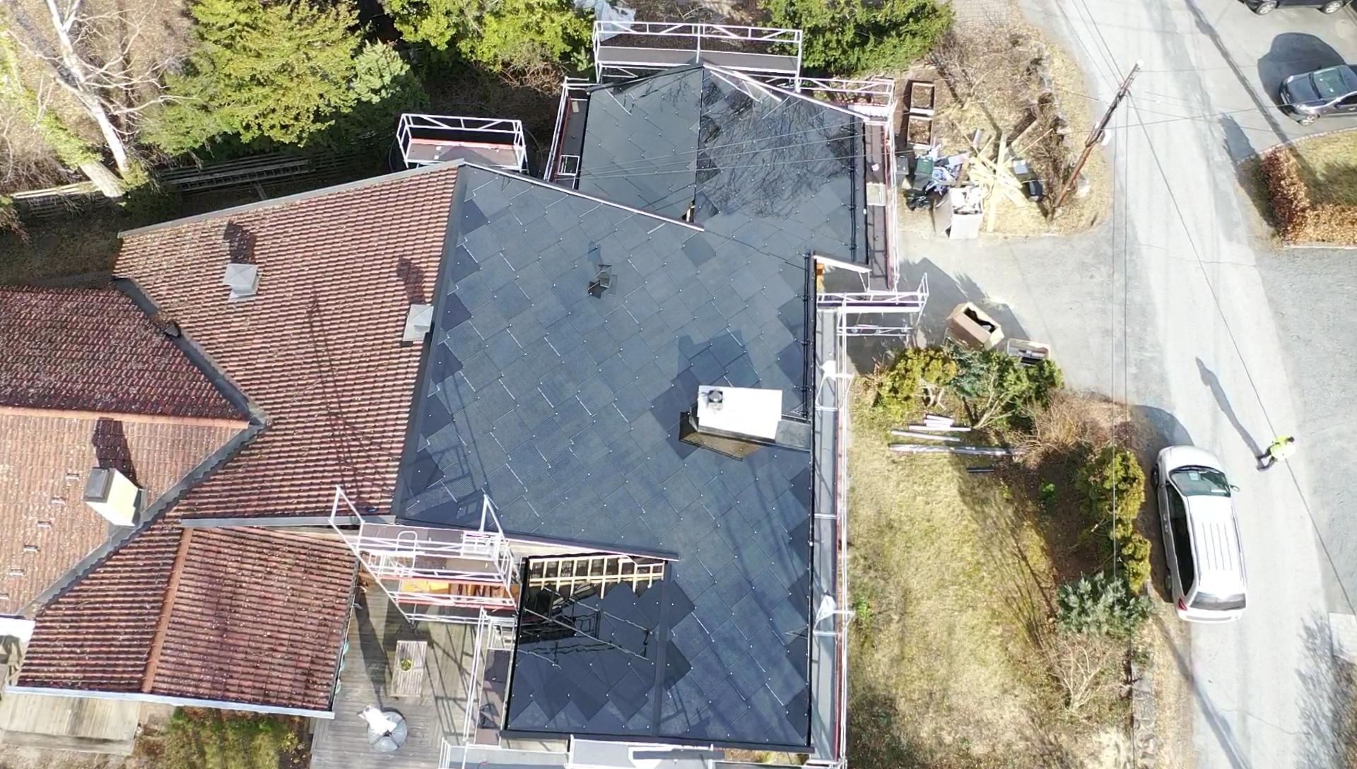 Sunstyle på deler av taket