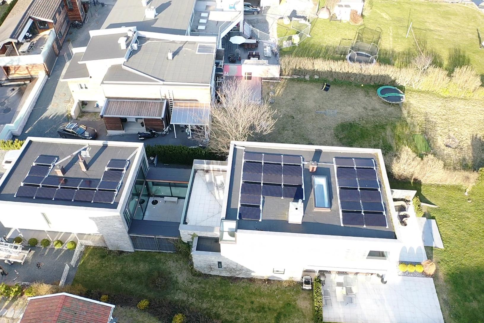 Solceller på flatt tak