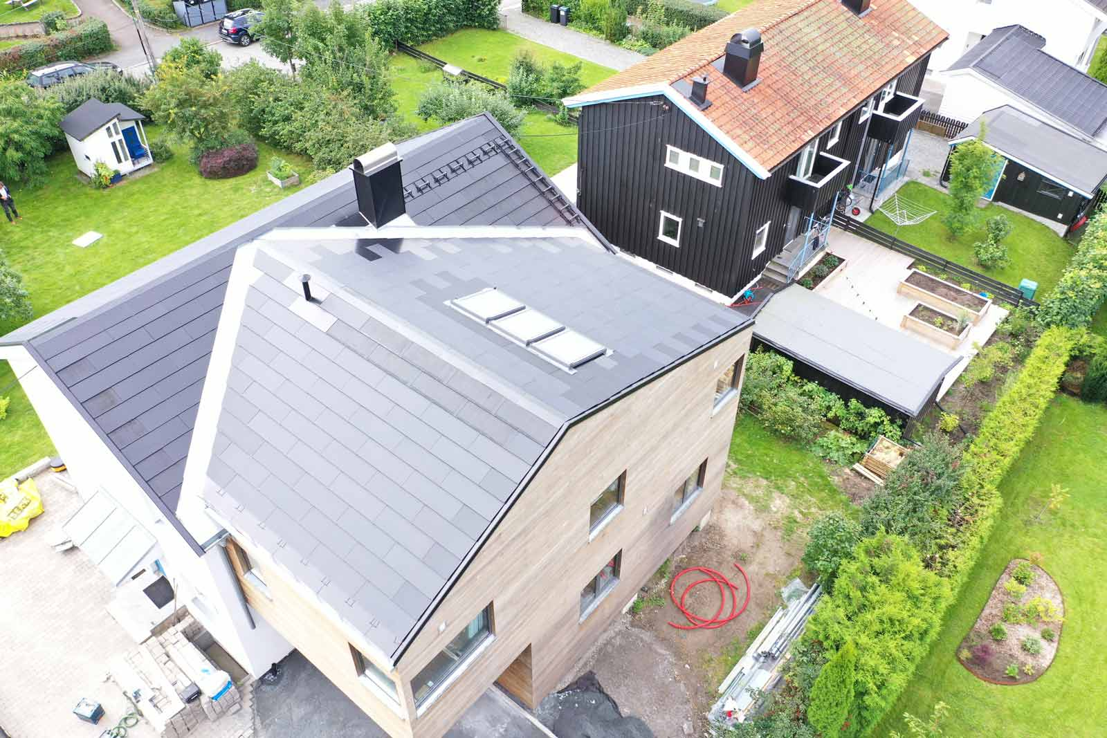 Ny type solcelletakstein på villa i Oslo