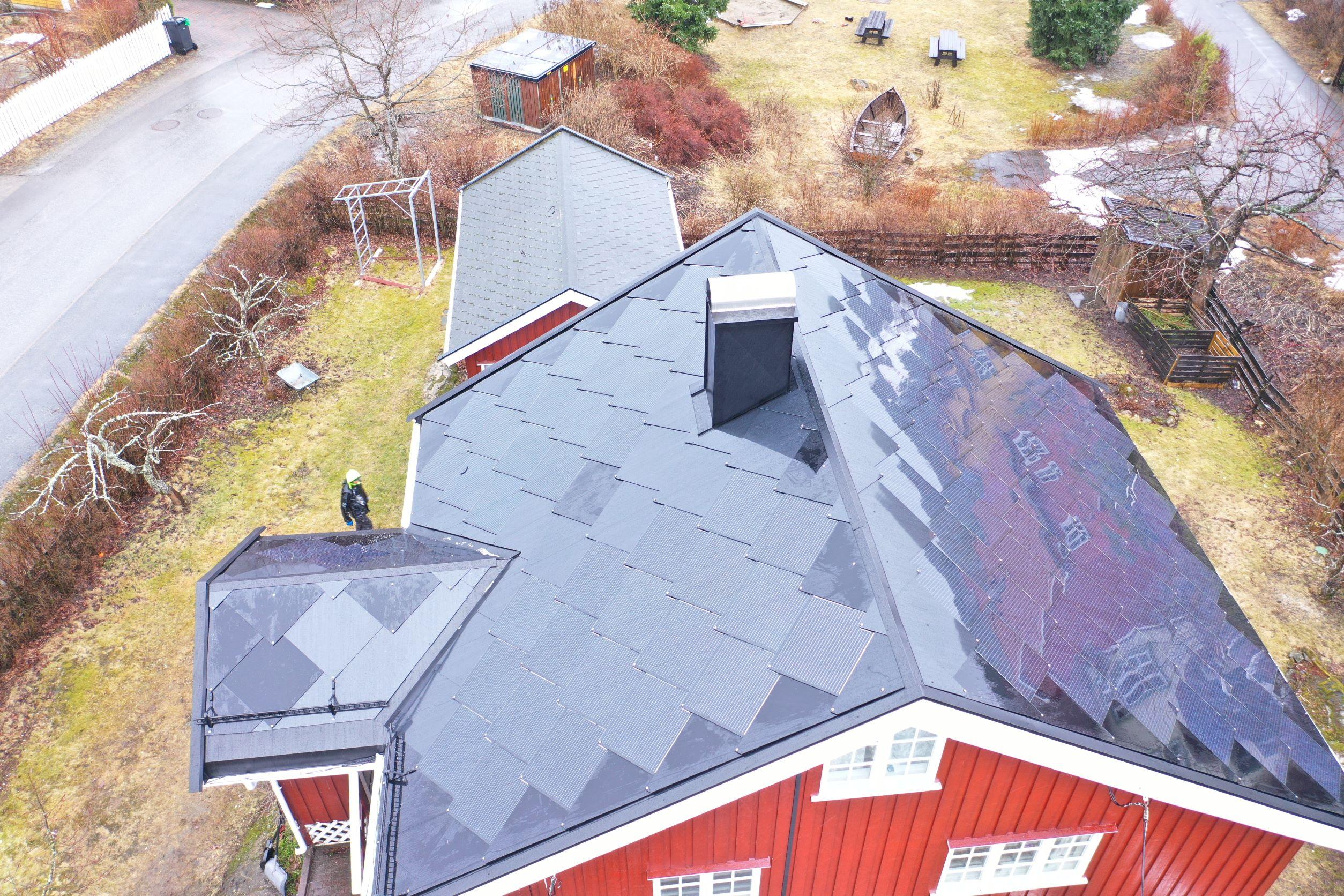 Solcelletakstein på Nesodden