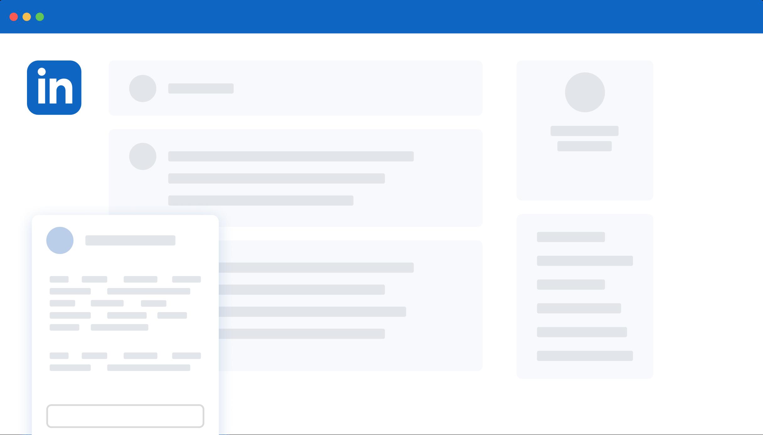 LinkedIn in browser