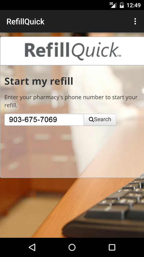 Screenshot 1 of Refill mobile app for iPhone
