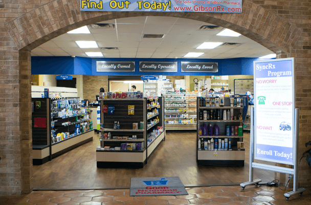 Photo of the interior of Gibson Pharmacy in Athens Texas
