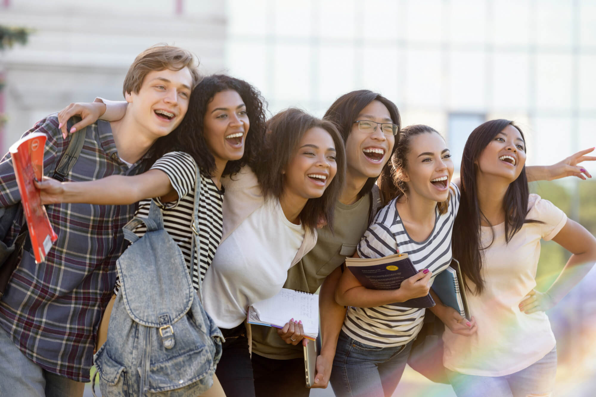 Photo of a group of people laughing together