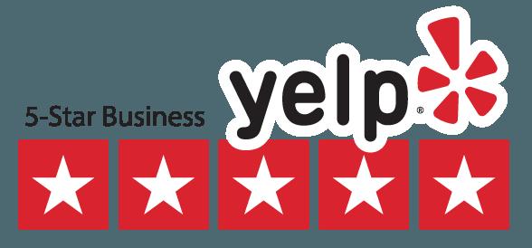 Yelp 5-star Business logo