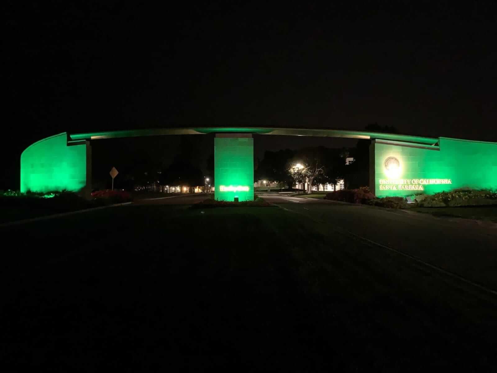 Hanley Gate lit up