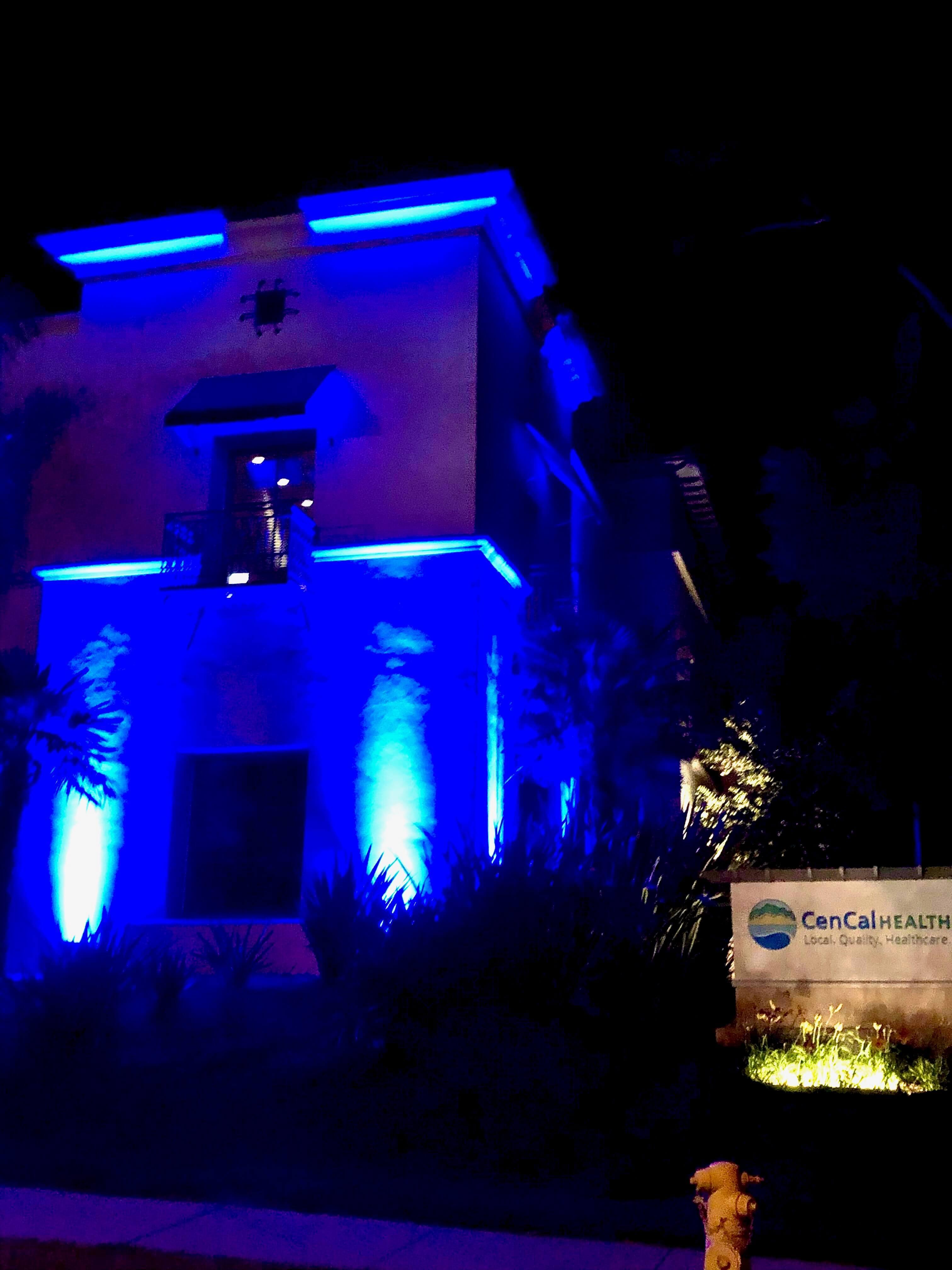 CenCal building lit up