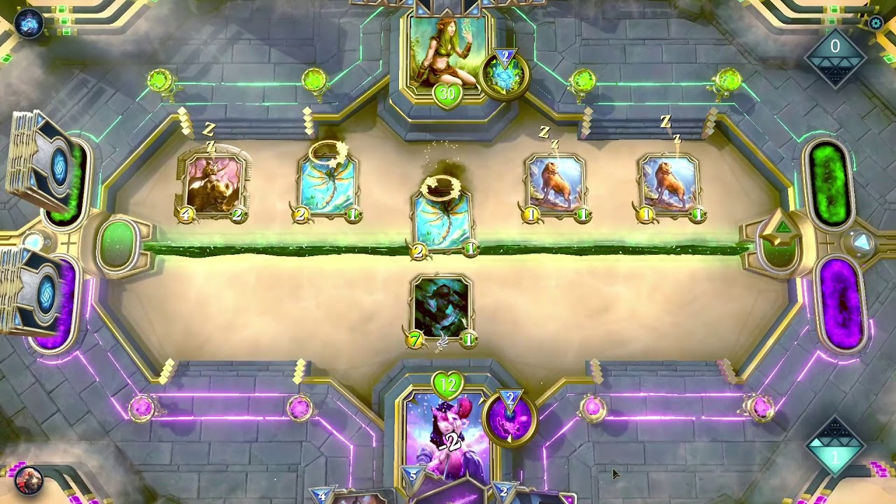 "Gameplay of ""Gods Unchained"""
