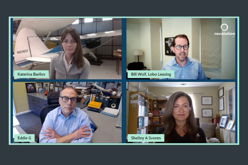 Lobo's Bill Wolf discusses eVTOL financing on Revolution.Aero virtual panel