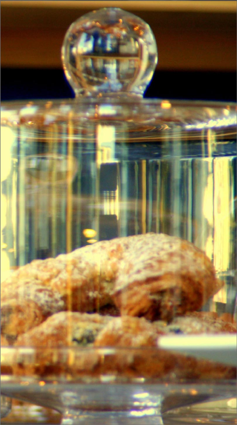 pastries in a glass jar